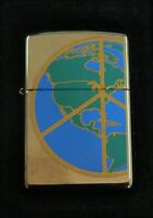 ZIPPO 21154 WORLD PEACE CHROM  ACCENDINO originale LIGHTER Limited Edition   Z50