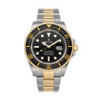 Rolex Sea-Dweller Auto 43mm Steel Yellow Gold Mens Oyster Bracelet Watch 126603