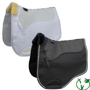 Rhinegold Non Slip Gel Shock Absorbing Saddle Cloth Saddle Pad - Straight Cut