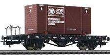 """**Liliput 221557 H0 Flachwagen m. Bremserb. u. Ladung """"STW Leipzig"""", Ep. II**"""