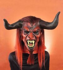 STRAIGHT FROM HELL DEVIL HORROR LATEX MASK ADULT HALLOWEEN COSTUME ACCESSORY