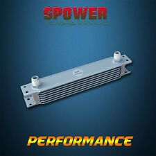 Universal 7 Row AN10 Engine Transmission Aluminum Oil Cooler Mocal Style Silver