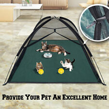 New Portable Outdoor Mosquito Habitat Cat Dog Pet Play House Exercise Tent Large