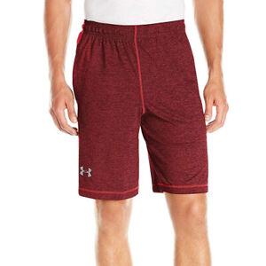 Under Armour UA HeatGear Raid Printed 10 Inch Mens Red Sports Training Shorts