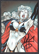 LADY DEATH LETHAL LADIES (Comic Images/2001) AUTOGRAPH CARD #A2 ROY YOUNG
