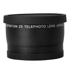 52mm 2x Telephoto Conversion Lens for Canon Sony Nikon Panasonic DSLR Camcorder