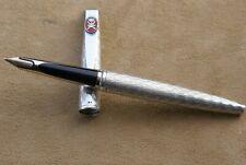 """Très Rare stylo plume 18 kts WATERMAN C/F en argent massif """"Spéciale Edition"""""""