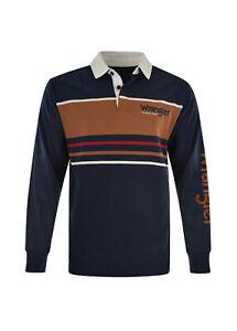 Wrangler Men's Hoffam Stripe Rugby