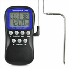 New Digital Food Oven Thermometer Timer Probe Cooking Clock temperature Pro