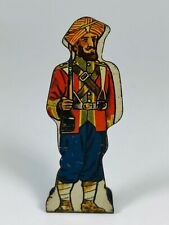 Sikhs #15 Vintage Marx Toy Lithograph Tin Litho Army Foot Soldier Figure Used