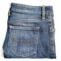 RM Williams Women's Size 11R Blue Straight Leg Zip Low Rise Denim Jeans TJ326