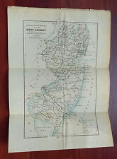 1888 Survey Map of New Jersey Showing Lines of Magnetic Declination