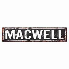 SLND_MACWELL Street Chic Sign Home man cave Decor Gift