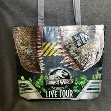 "JURASSIC WORLD LIVE TOUR EXCLUSIVE Souvenir Tote Bag Blue T-rex 18"" TWO SIDED"