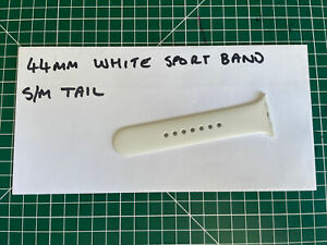 Apple Watch 42mm 44mm White Sport Band S/M Tail Only