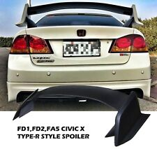 2006-2011 HONDA CIVIC 4DR GEN X STYLE TYPE-R TRUNK WING SPOILER+CARBON SIDE