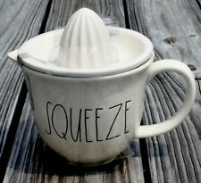 """Very Rare New Rae Dunn By Magenta """"Squeeze"""" Juicer Large Letters!!"""