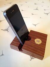Purdey shotgun shell cartridge cap solid walnut Smartphone,iPhone Stand Holder!!