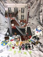 Ghostbusters Playmobil Bundle Fire House Hot Dog Stand Slimmer 9 Figures Puft