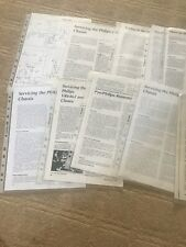 Philips Various Articles On service manual In Folders. Plz Ref Pictures