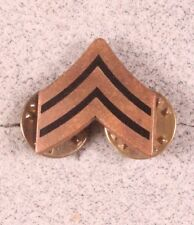 Enlisted Rank Pin:  Army Sergeant  - enamel on gilt, single