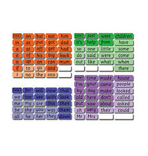 High Frequency Word Flash Cards Set Learning Educational Literacy Reading