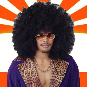 WOW XXL Afro Perücke Karneval Fasching Retro Style Hippie Party Haare«