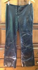 Guess Leather Pants, Womens 4, Black, Lined, Boot Cut