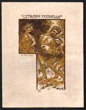 P.E. Vibert. Le Satyre. Bois gravé. L'Estampe Nouvelle. 1909. Menu