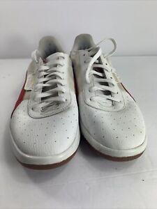 PUMA Men's G. Vilas 2 Sneakers White/Red US size 8.5