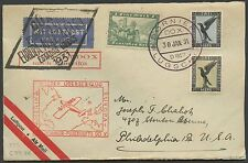 """DOX"" FLIGHT COVER 1931 GERMANY TO PHILADELPHIA, PA BS465"