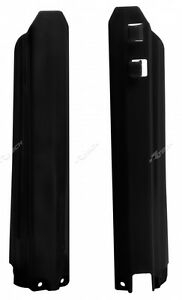 Yamaha YZ400F YZF400 2000 2001 Black Fork Guards Protectors Covers