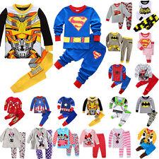Baby Kinder Jungen Mädchen Schlafanzug Pyjama Set Karikatur Nachtwäsche Kleidung