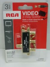 NEW! RCA VIDEO 3-WAY COAXIAL CABLE SPLITTER, VH48R