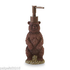 Essential Home Resin Bear  Lotion Pump / Soap Dispenser - Wild Lodge
