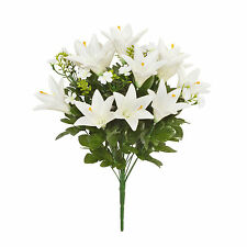 Artificial Longi Lily bunch x 18 stems 51cm/20 Inches