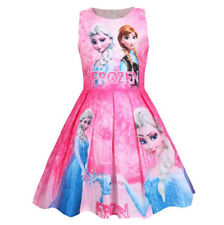 New Girls Frozen Princess Dress Kids Sleeveless Party Pageant Birthday Dress