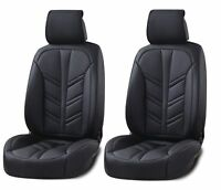 Deluxe Black PU Leather Front Seat Covers Cushion For Opel