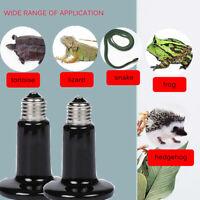 50-250W Reptile Ceramic Heat Emitter Bulb Infrared Heater Vivarium Lamp Black !