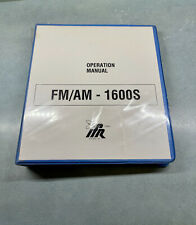 Ifr Fmam 1600s Communications Service Monitor Operation Manual Used