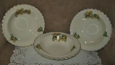 3 x VINTAGE J & G MEAKIN BOWLS with 3 pretty floral designs