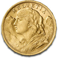 20 francs or Suisse Vreneli Gold coin Swiss