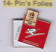 Pin's Folies Badge Albertville Olympic winter games 1992 Meribel Descente