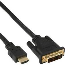 InLine® HDMI-DVI Kabel, vergoldete Kontakte, HDMI Stecker auf DVI 18+1 Stecker