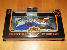HARLEY DAVIDSON Collectible Key Chain Knife Pin Officially Licensed Boxed NEW