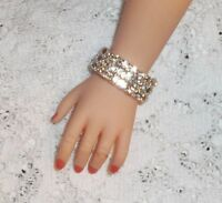 Clear CISSY & similar FASHION doll Rhinestone BRACELET crystal diamond 3 rows