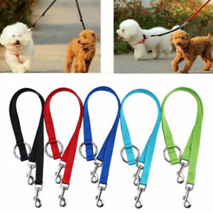 Double Ended Dog Lead For 2 Dogs 2 Way Coupler Leash Reflect T1Y5 Walking J6H3