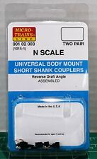 N Scale MicroTrains Universal Body Mount Couplers 2 Pair Item #00102003 (1015-1)