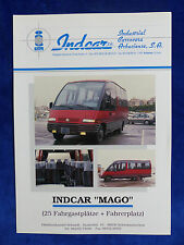 Indcar España-bus autobús chocó Indcar mago-folleto brochure