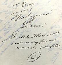 1985 Muhammad Ali Signed Fan Letter w/Inspirational Quote - All in His Writing